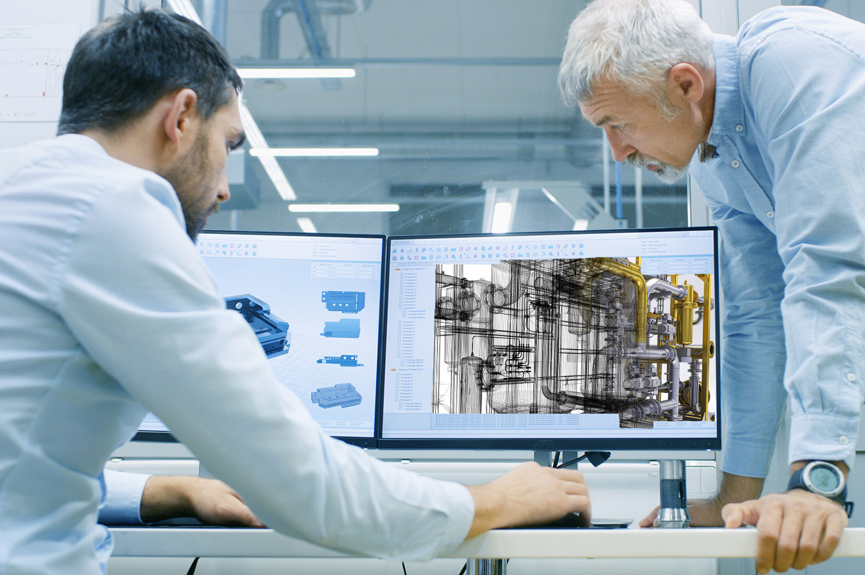 BIM engineer working on 3D AutoCAD design